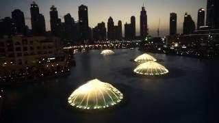 Dubai Mall water fountain show 2015 FEB UAE