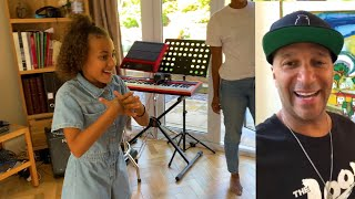 Tom Morello gifts 10 year old girl his signature Fender Stratocaster
