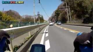 春の桜、環状4号線(横浜市金沢区六浦~ふるさと村)×1.8倍速