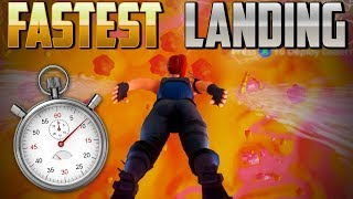 HOW TO FALL THE FASTEST?!  | NO GLIDER? |  FIRST LANDED! (Fortnite Battle Royale)