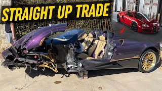 TRADING MY BUGATTI for a WRECKED PAGANI HUAYRA
