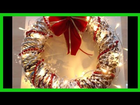 Christmas decorations - How to make a Christmas wreath