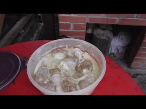 Шашлык по грузински из курицы кулинарный рецепт