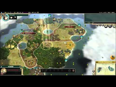Civilization V By Land & Sea (Anglo German Aliance) Episode 2