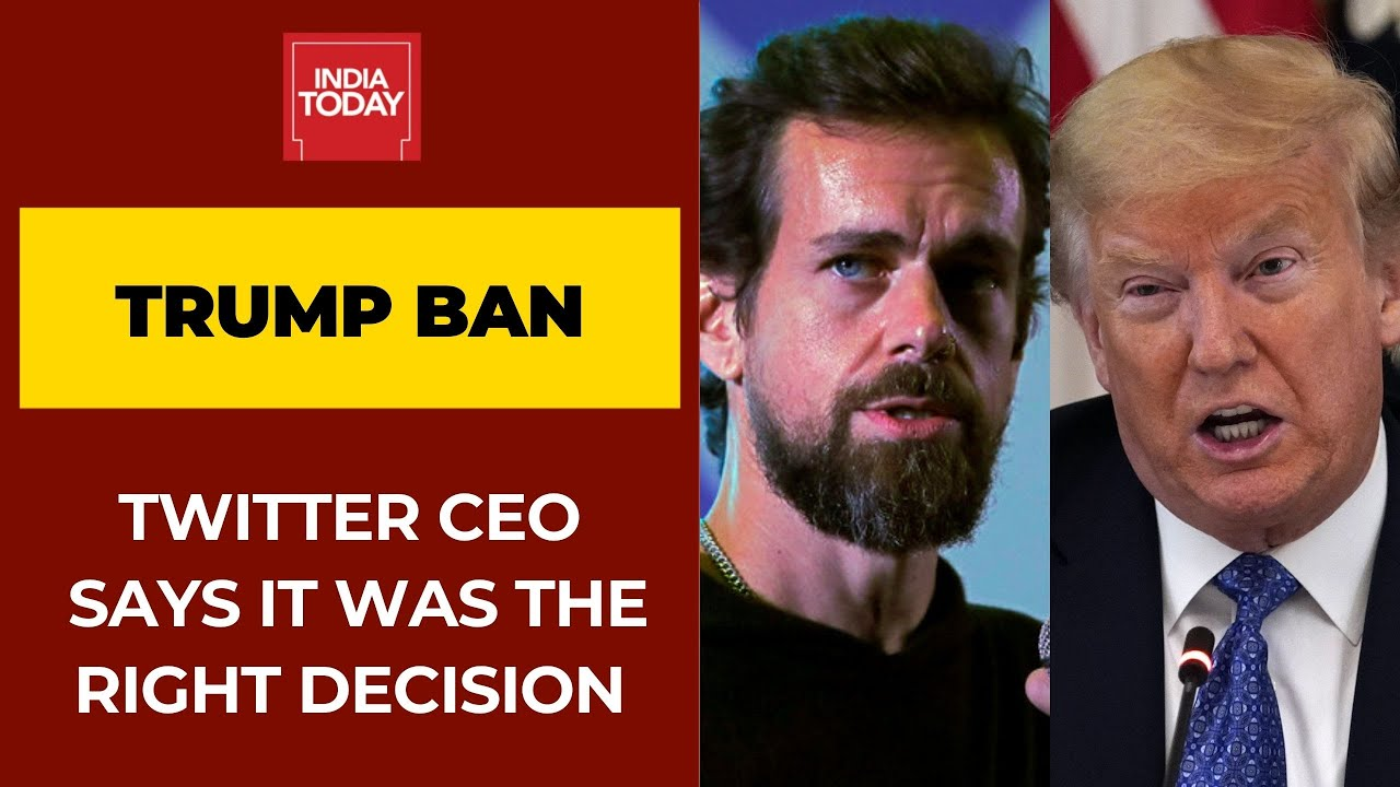 Twitter CEO Jack Dorsey Defends Trump Ban;  He says it's the Right Decision '