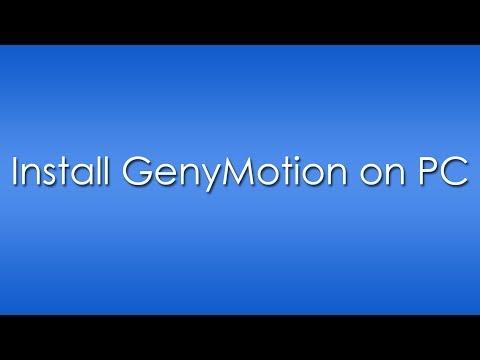 Install GenyMotion on PC/Windows - GenyMotion Review