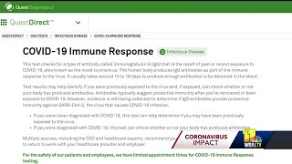 COVID-19 antibody test online available from Quest Diagnostics