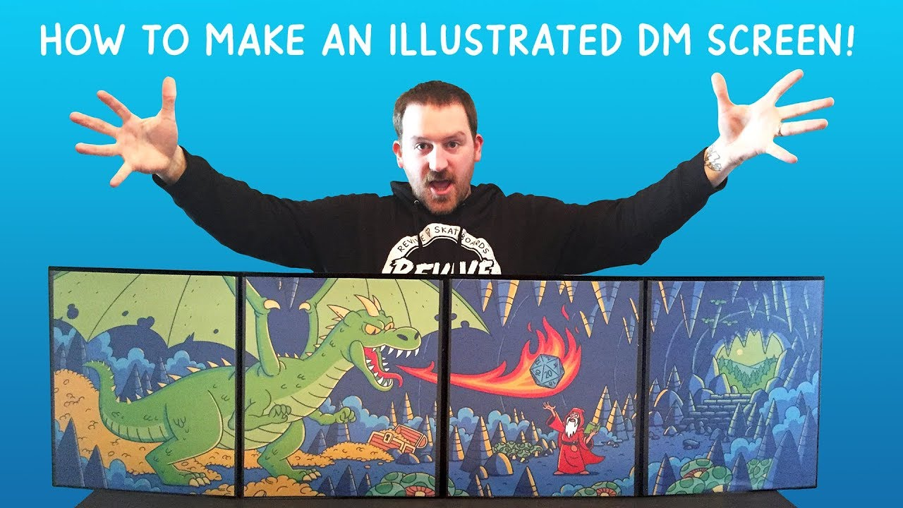 image relating to Printable Dm Screen known as How in the direction of Produce A Tailor made Illustrated DM Show!!!