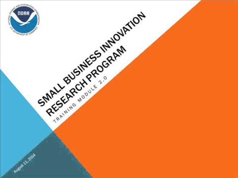 Intro to National Oceanic and Atmospheric Administration (NOAA) SBIR Program