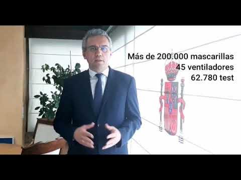 Llegada de material de protección a Castilla y León