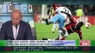 After Foot du jeudi 19/10 – Partie 3/3 - Débrief de Nice/Lazio Rome (1-3)