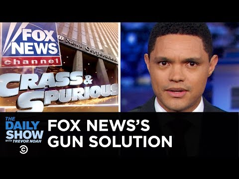 Fox News has lots of ideas to fix mass shootings. Trevor Noah explains why they're all garbage.