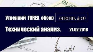 ✅Технический анализ основных валют 21.02.2018 | Утренний обзор Форекс с GERCHIK & CO.