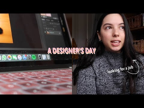 Day In The Life Of A Graphic Designer (+ Job Hunting)
