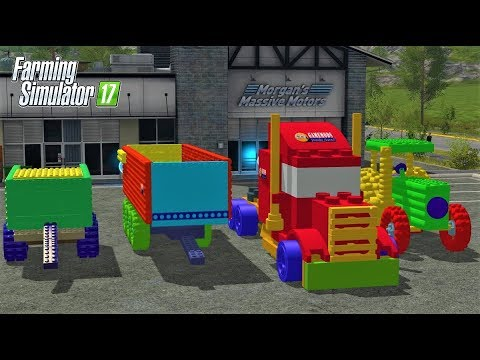 Farming Simulator 17 | ALL LEGO VEHICLES | LEGO : TRUCK , TRACTOR , TRAILER, BALER