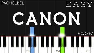 Pachelbel - Canon | EASY SLOW Piano Tutorial