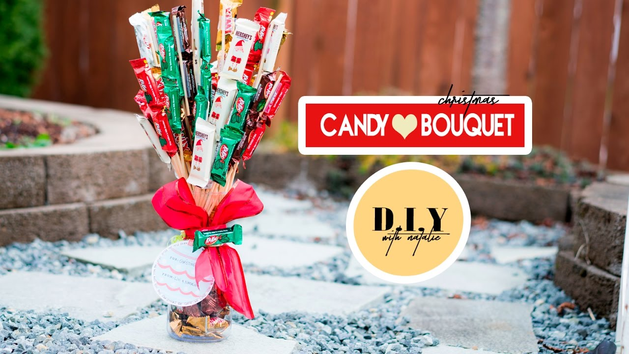 how to create a christmas candy bouquet diy l xolivi - Christmas Candy Bouquet