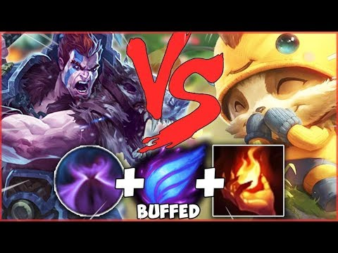 This Teemo Thought He Could Kite Me... Little Did He Know Buffed Phase Rush Darius Is 100% TOO Fast!