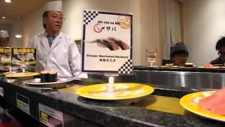 Kaiten Sushi-  Numazuko Restaurant, Shinjuku, Tokyo:  Shougatsu 2015-16