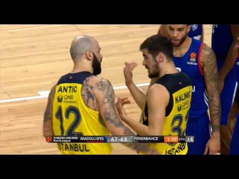 Accidental punch by Pero Antic to Nikola Kalinic