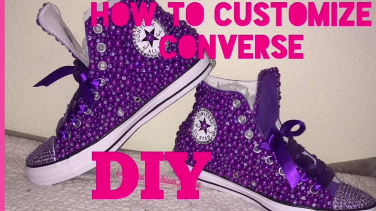 94938019516c How to customize converse - YouTube