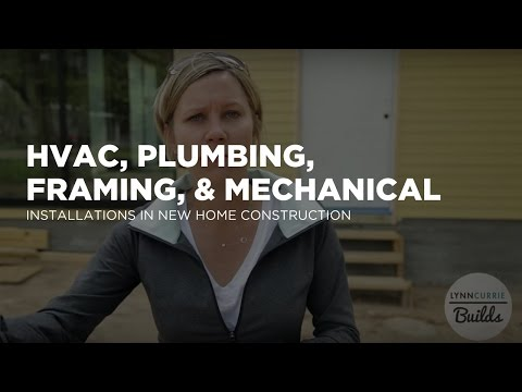 Framing, Mechanical, Plumbing, and HVAC Installs at New Spec Home Construction