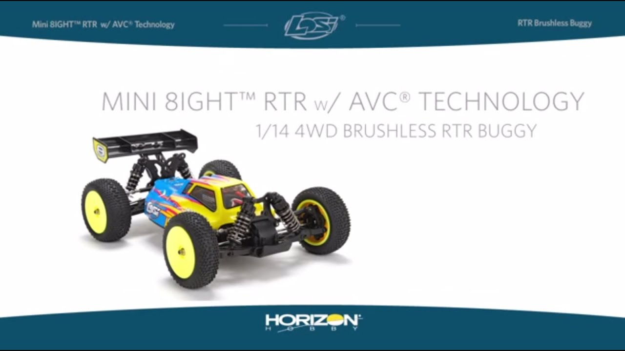 Losi Mini 8IGHT RTR 1/14 4WD RTR Buggy with AVC Technology