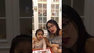 [Nhím và cô Hoa] - Clip Nhím nói tiếng Anh cùng mẹ - 15/03/2017