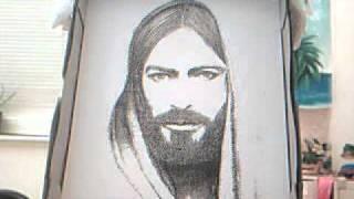 Master Jesus Christ Rare hand drawn picture in 2000