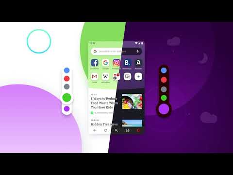 New Opera 54 for Android with colorful themes looks goood!