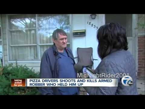 pizza man shoots armed robber dead youtube. Black Bedroom Furniture Sets. Home Design Ideas