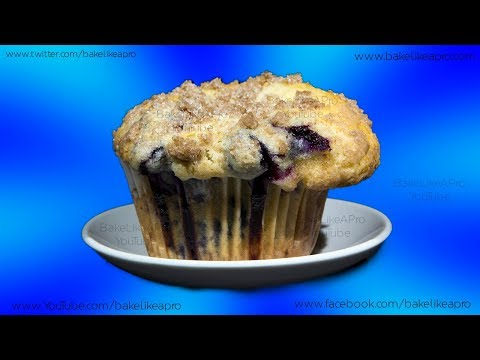 EASY SUPER YUMMY BLUEBERRY MUFFINS With Crumble Topping Recipe