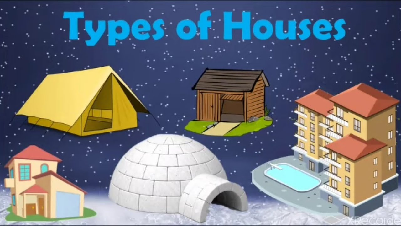Types of houses  kutcha house and Pucca house  Different types of houses    types of houses for kids - YouTube [ 720 x 1280 Pixel ]