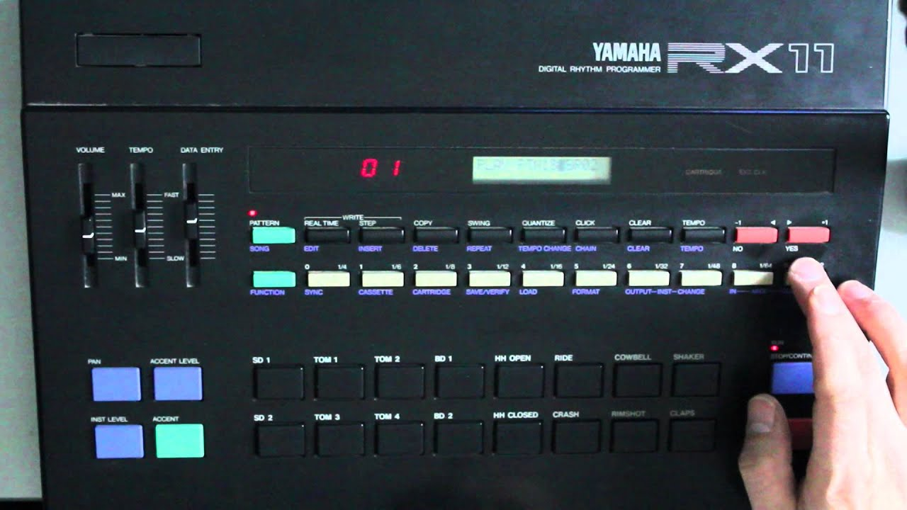 yamaha rx11 drum machine youtube. Black Bedroom Furniture Sets. Home Design Ideas
