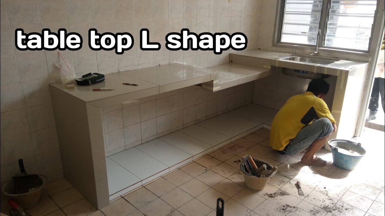 Kerja Membuat Meja Dapur Table Top
