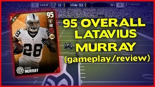 95 LATAVIUS MURRAY GAMEPLAY/REVIEW!! - MADDEN 17 ULTIMATE TEAM REVIEW [#2]