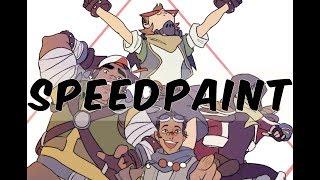 [SpeedPaint] Voltron- Space Mall Adventure!