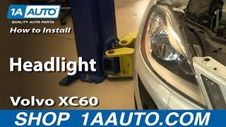 How To Install Replace Headlight Volvo XC60