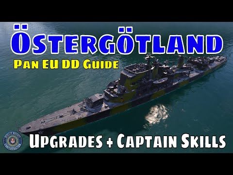 Ostergotland European Swedish Destroyers World Of Warships Wows Guide Youtube