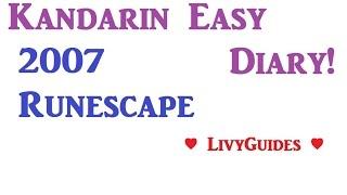 Kandarin Easy Achievement Diary OSRS 2015