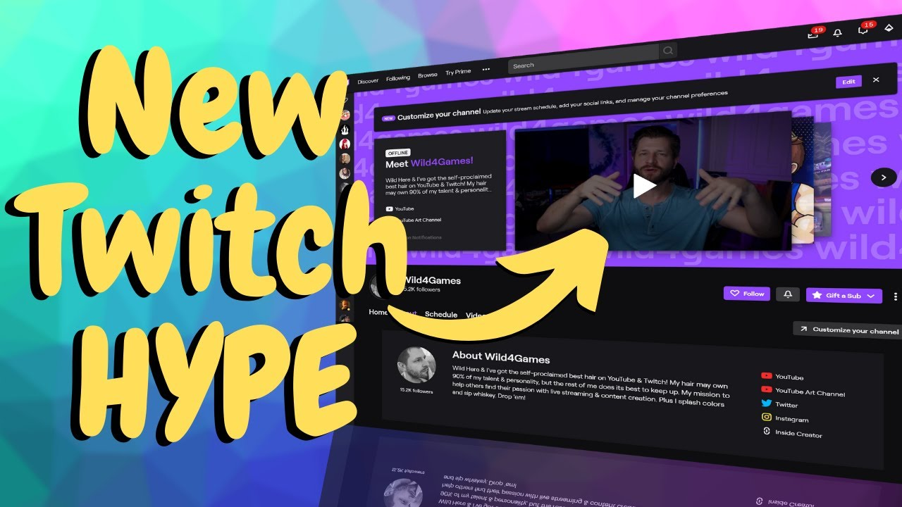 Look Professional - How To Setup And Use The New Twitch Channel Page!