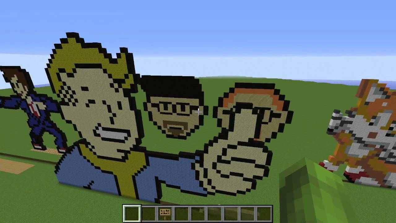 Superb Minecraft RaNdOm PiXeL Art Map Design