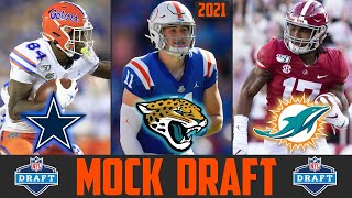 2021 NFL Mock Draft | Kyle Trask Trevor Lawrence Trey Lance Justin Fields Kyle Pitts Jaylen Waddle