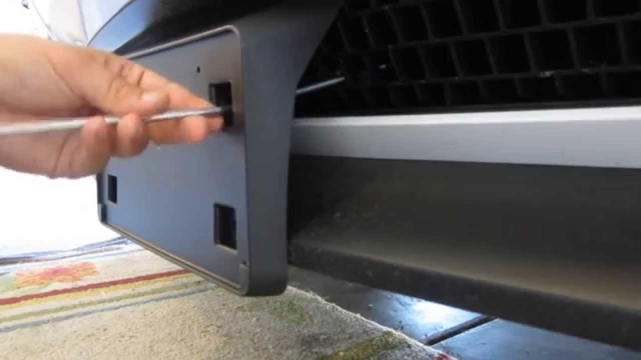 Dodge Challenger NO-DRILL License Plate Relocation - YouTube