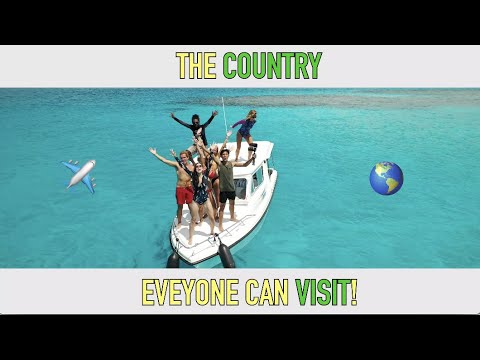 THIS COUNTRY IS OPEN FOR TOURISM (Ok, it's the Maldives).