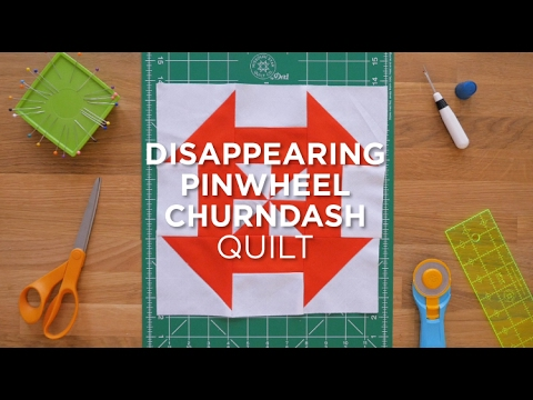 Quilt Snips Mini Tutorial: Disappearing Pinwheel Churndash