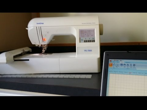 letter it how to import design to embroidery machine youtube