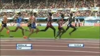 MO FARAH 5000m final EURO champs 2012 Helsinki