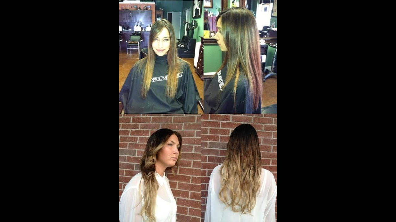 Ombre Hair Color Before After At H2o Salon Tampa Clearwater