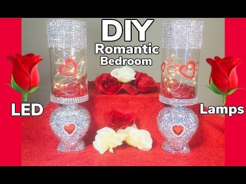Dollar Tree DIY Valentine Romantic Bedroom LED lamps 2019